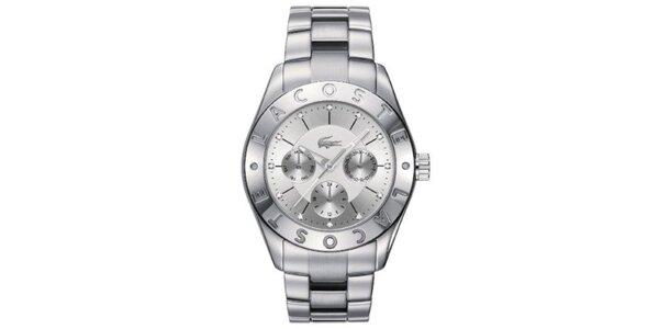 Dámske hodinky z nerezovej ocele s dátumovkou Lacoste