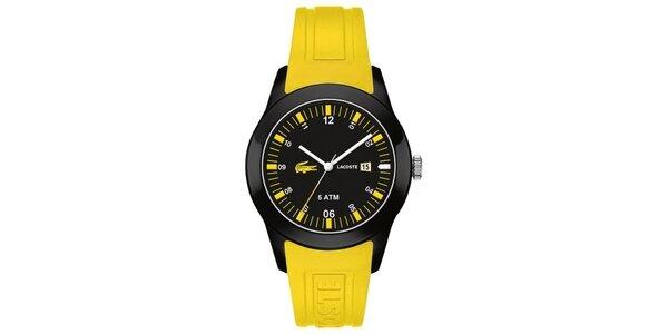 Pánske žlto-čierne hodinky Lacoste