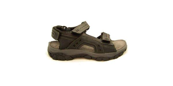 Pánske čierne trekové sandále Numero Uno