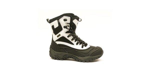 Dámske čierno-biele vysoké zimné topánky Numero Uno