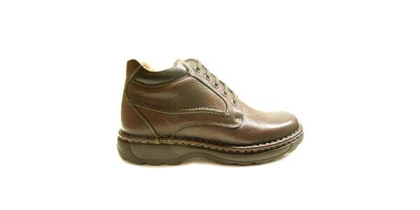 Pánske hnedé zimné členkové topánky Numero Uno