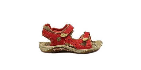 Dámske červené trekové sandále Numero Uno