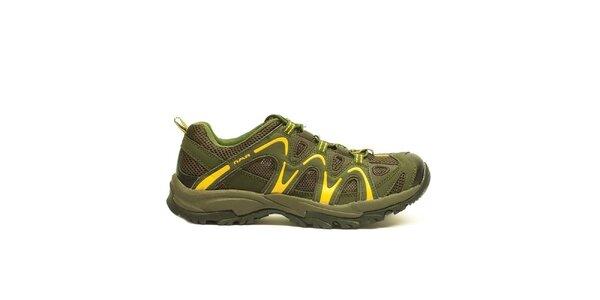 Pánske khaki-žlté športové topánky Numero Uno