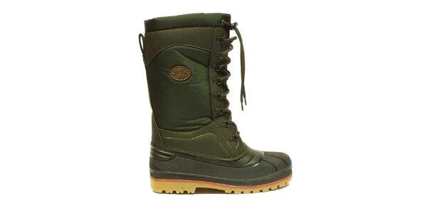 Tmavo zelené zimné topánky Numero Uno