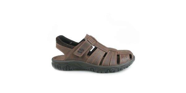 Pánske tmavo hnedé sandále Numero Uno