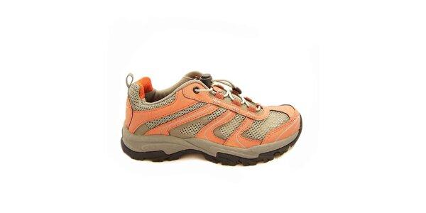 Dámska treková obuv v oranžovom prevedení Numero Uno