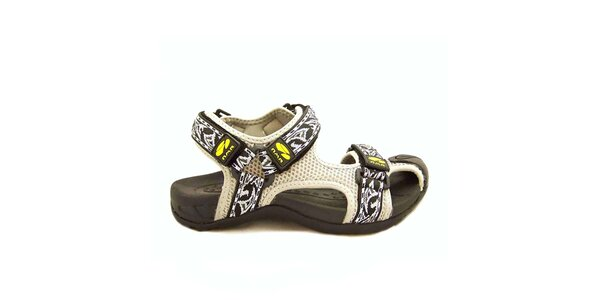 Dámske biele sandále s remienkami na suchý zips Numero Uno
