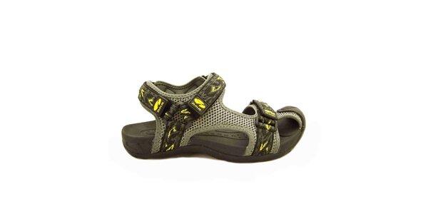 Dámske šedé sandále s remienkami na suchý zips Numero Uno