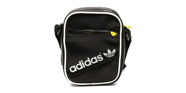 Čierna taška so žltými zipsami Adidas