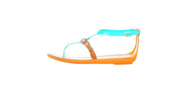 Dámske zelené pásikové sandálky Ana Lublin