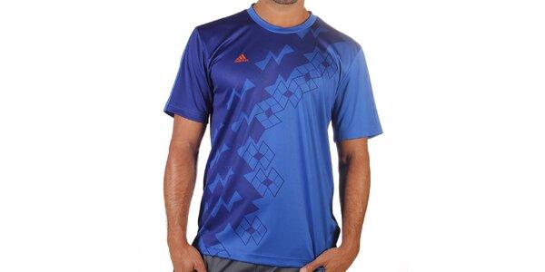 Pánske modré tričko s krátkym rukávom Adidas