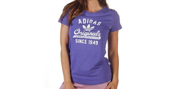Dámske fialové tričko s krátkym rukávom Adidas