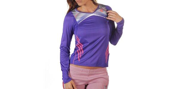 Dámske fialové tričko s dlhým rukávom Adidas