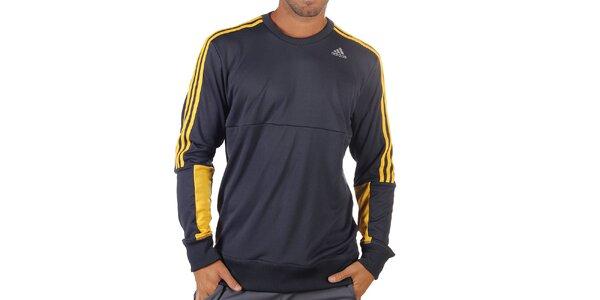 Pánska modro-žltá športová mikina Adidas