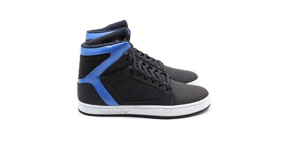 Pánske čierne členkové tenisky Adidas