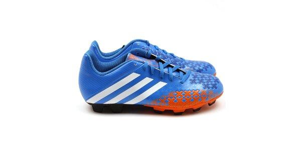 Pánske oranžovo-modré kopačky Adidas