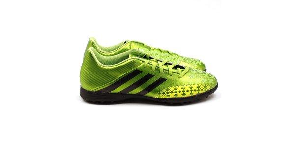 Pánske športové topánky v zelenej farbe Adidas