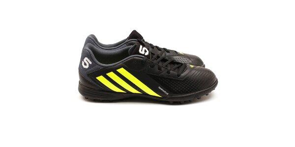 Pánske žlto-čierne kopačky Adidas