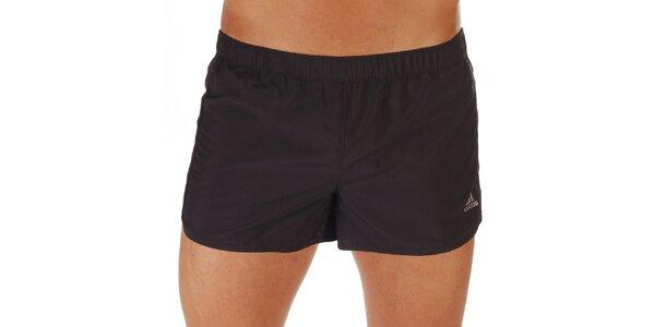 Pánske čierne športové kraťasy Adidas