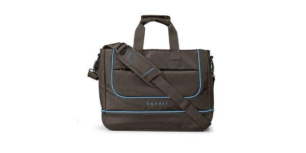 Hnedá taška na notebook Esprit