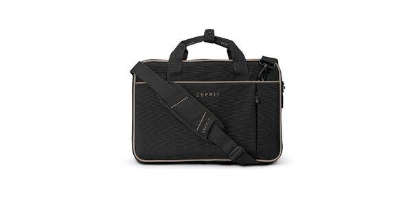 Čierna taška na notebook Esprit
