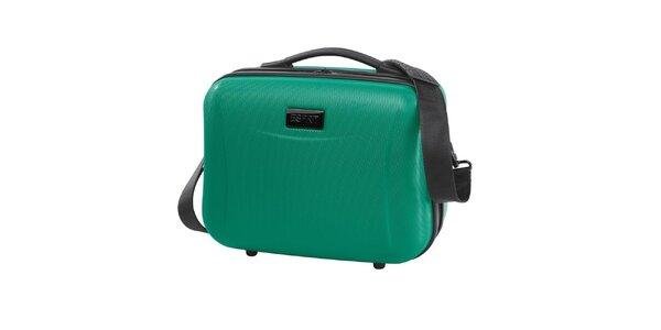 Cestovní kozmetický kufrík v zelenom prevedení Esprit