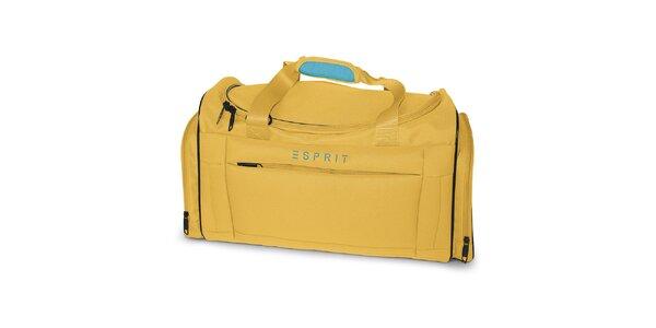 Malá cestovná taška v žltej farbe Esprit