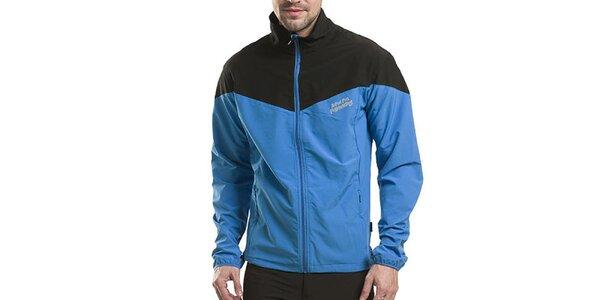 Pánska modro-čierna bunda Alpine Pro