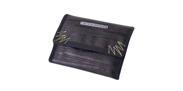 Čierno-fialová žíhaná peňaženka Alpine Pro