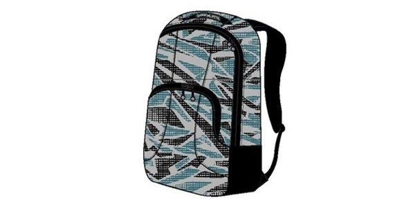 Bielo-čierno-modrý vzorovaný ruksak Alpine Pro