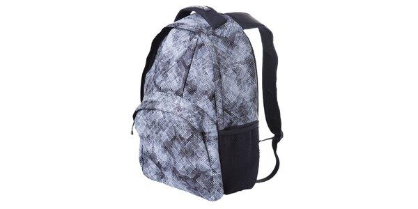 Šedo-biely ruksak so vzorom Alpine Pro