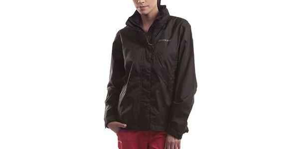 Dámska čierna bunda s kapucňou Alpine Pro