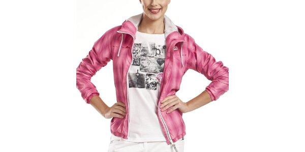 Dámska ružová športová bunda s kapucňou Alpine Pro