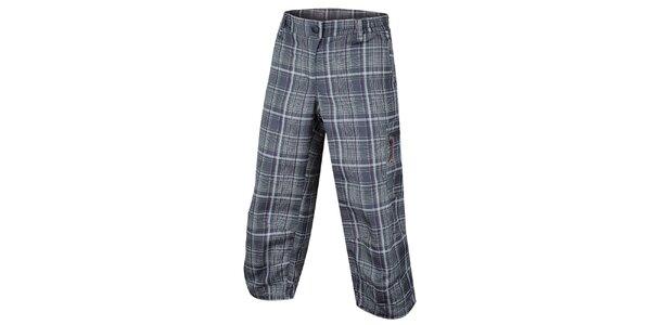 Dámske tmavé capri nohavice so vzorom Alpine Pro