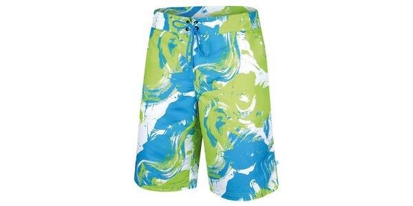 Pánske zeleno-modré šortky Alpine Pro