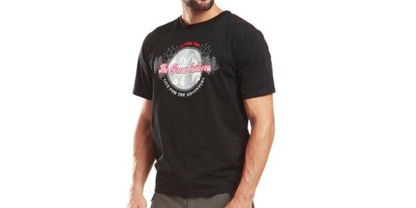 Pánske čierne tričko s krátkym rukávom Alpine Pro