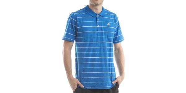 Pánske modré polo tričko s prúžkami Alpine Pro