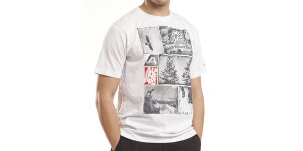 Pánske biele bavlnené tričko Alpine Pro