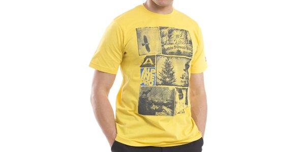 Pánske žlté bavlnené tričko Alpine Pro