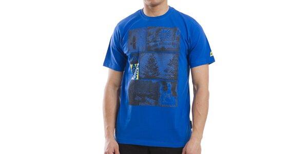 Pánske modré bavlnené tričko Alpine Pro