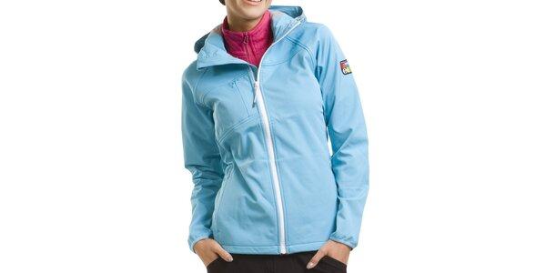 Dámska svetlo modrá softshellová bunda Alpine Pro