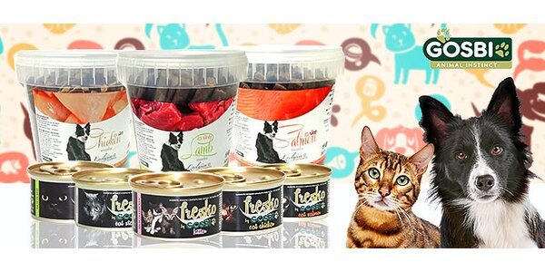 Kvalitné krmivo pre psy a mačky