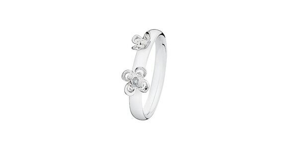 Dámsky prsteň s kvetinkami Spinning