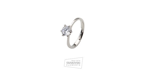 Dámsky prsteň s kamienkom Swarovski Elements