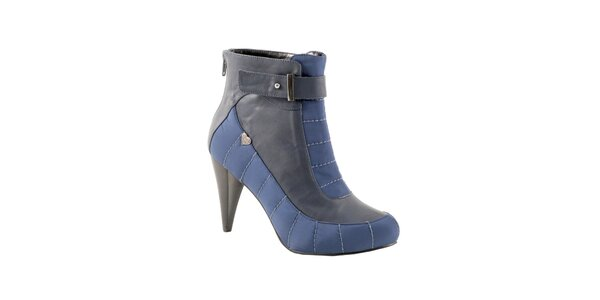 Dámske modro-šedé členkové čižmy Red Hot