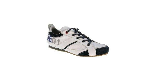 Pánske bielo-modré kožené topánky Red Hot