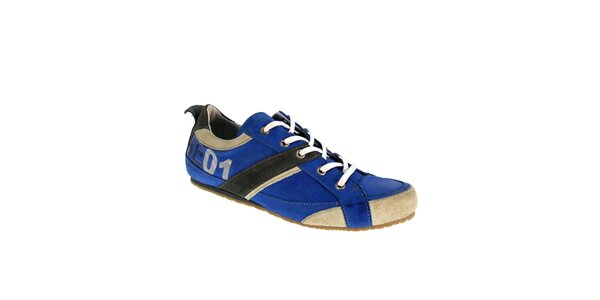 Pánske modré kožené topánky Red Hot