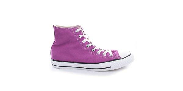 Fialové plátené topánky Converse
