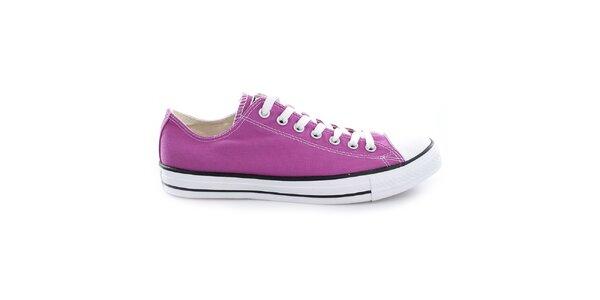 Nízke fialové tenisky Converse