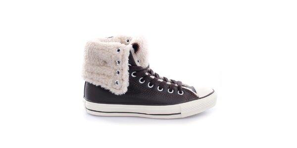 Dámske členkové topánky s kožúškom Converse